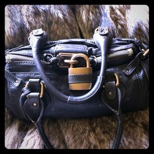 CHLOE Authentic Black Paddington Leather Satchel